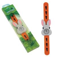 Ceas pentru copii Keycraft, 25 x 5.5 x 2 cm, silicon, 3 ani+, model iepuras