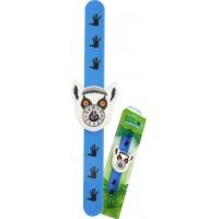 Ceas pentru copii Keycraft, 25 x 5.5 x 2 cm, silicon, 3 ani+, model lemurian