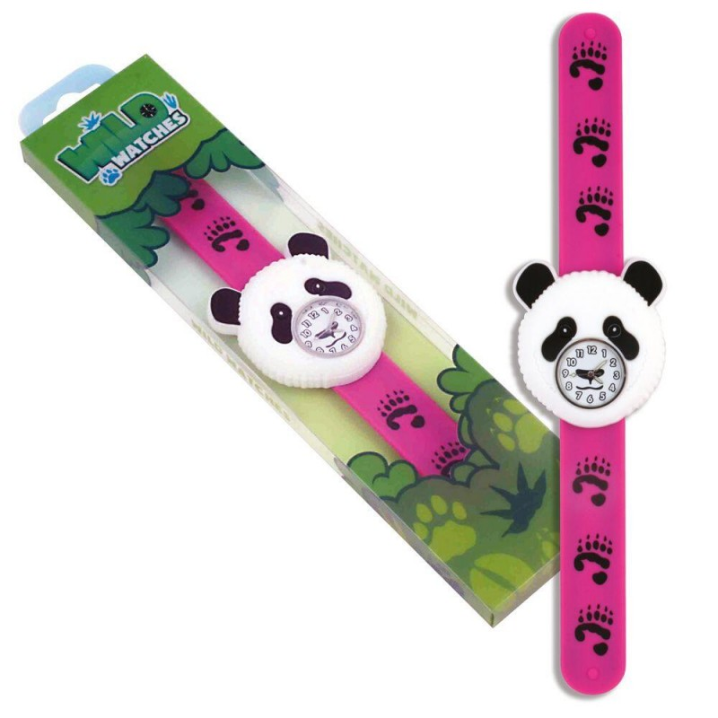 Ceas pentru copii Keycraft, 25 x 5.5 x 2 cm, silicon, 3 ani+, model panda 2021 shopu.ro