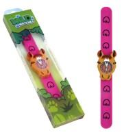 Ceas pentru copii Keycraft, 25 x 5.5 x 2 cm, silicon, 3 ani+, model ponei
