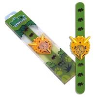 Ceas pentru copii Keycraft, 25 x 5.5 x 2 cm, silicon, 3 ani+, model Triceratops