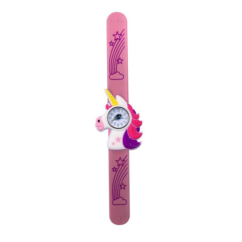 Ceas pentru copii Keycraft, 25 x 5.5 x 2 cm, silicon, 3 ani+, model unicorn 2021 shopu.ro