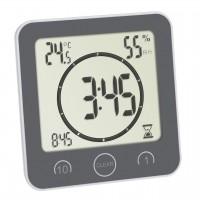 Ceas digital cu timer Tfa, 106 x 41 x 109 mm, plastic, termohigrometru integrat