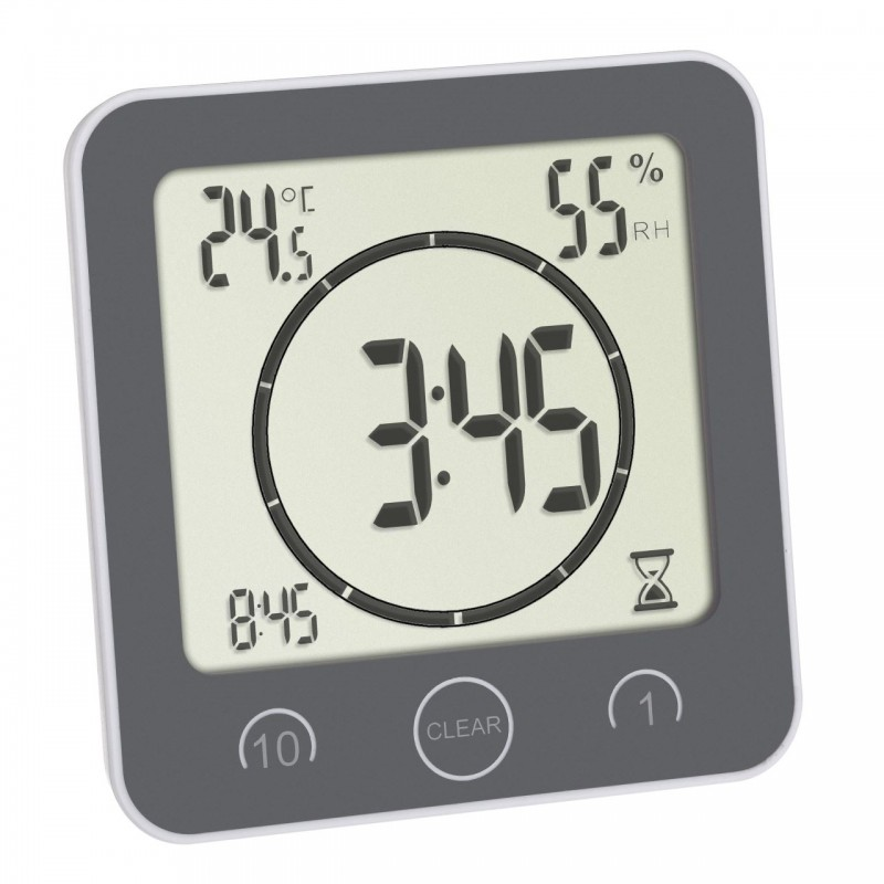 Ceas digital cu timer Tfa, 106 x 41 x 109 mm, plastic, termohigrometru integrat 2021 shopu.ro
