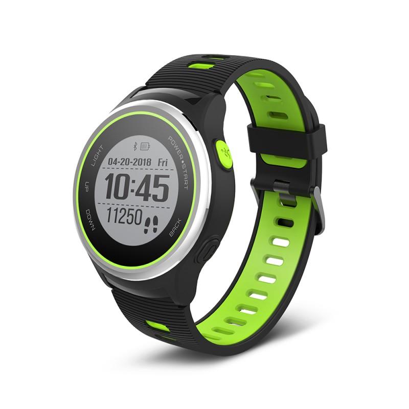 Ceas Forever Smart Watch GPS, 500 mAh, Bluetooth 4.2, functie TripleX, Verde 2021 shopu.ro