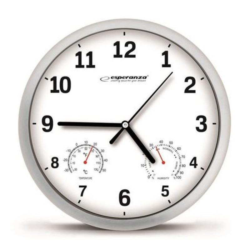 Ceas de perete Lyon Esperanza, diametru 25 cm, cadru plastic 2021 shopu.ro