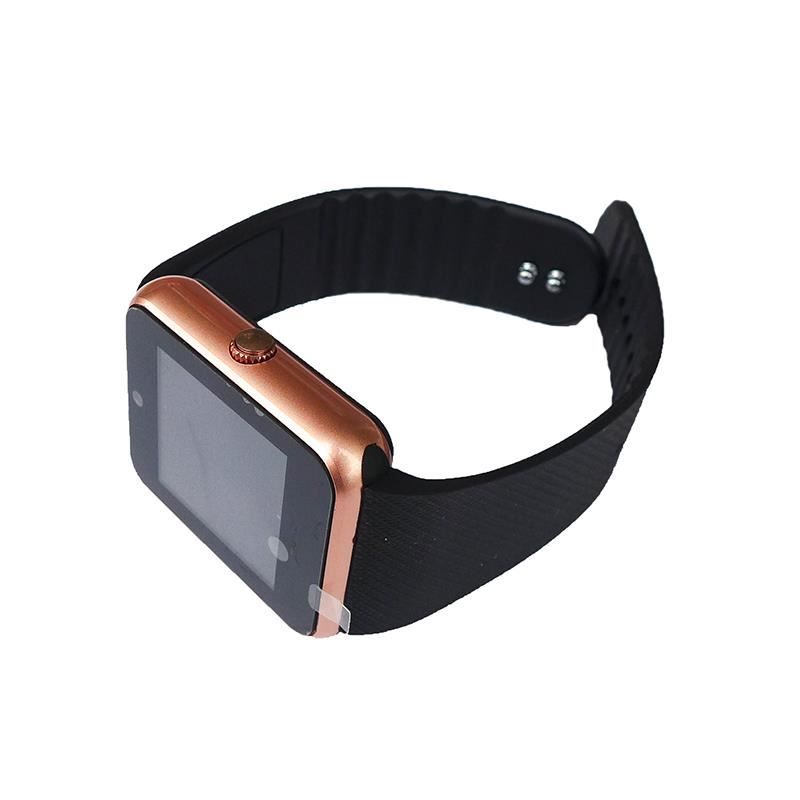 Smartwatch Siegbert Smart Multifunctional iWatch, 128 MB, microUSB, camera, sincronizare SMS, redare audio/video, Auriu 2021 shopu.ro