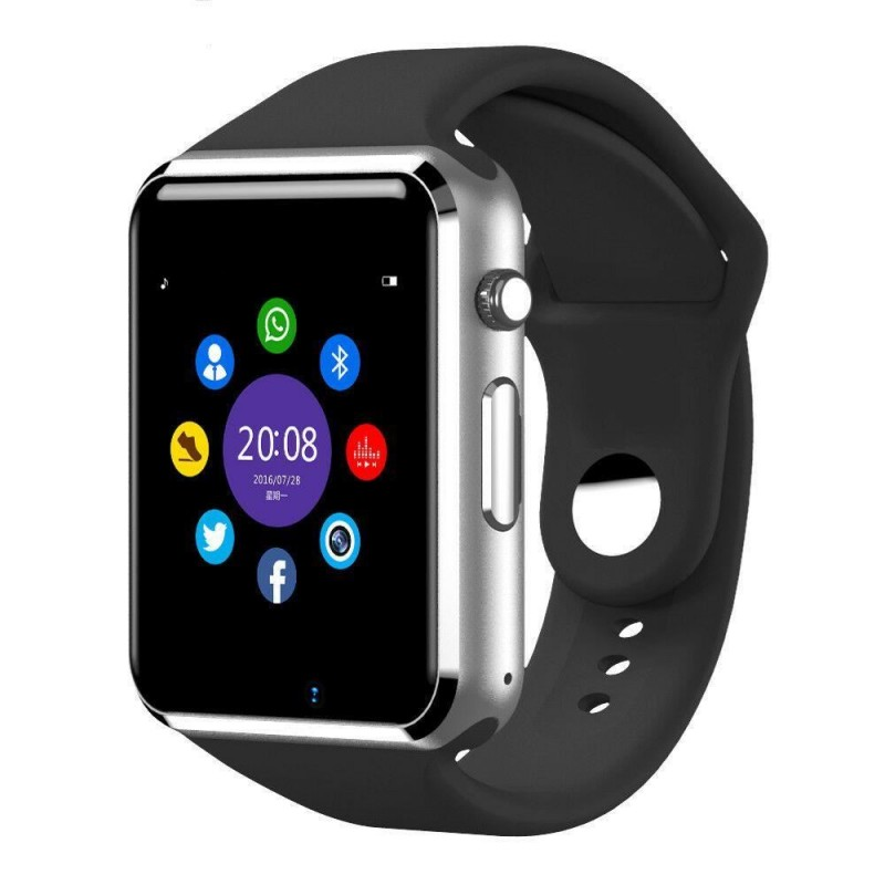 Ceas Smart multifunctional Siegbert, tip iwatch, Bluetooth, memorie 128 MB, microUSB, Negru 2021 shopu.ro