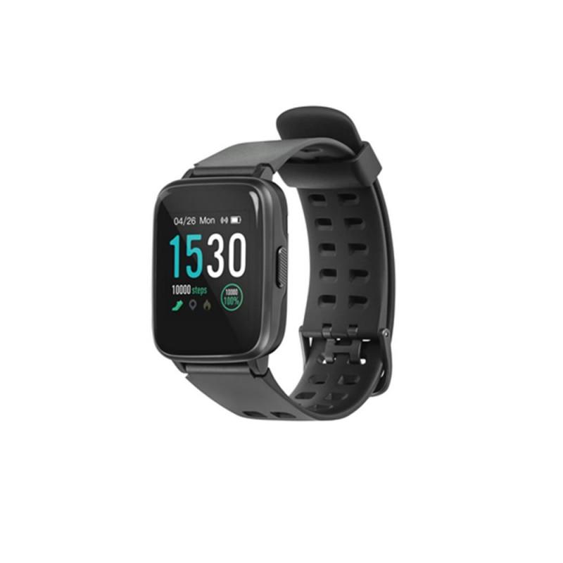 Ceas Smartwatch Acme, Bluetooth 5.0, ecran color, notificari apel/mesaj, curea detasabila, Negru 2021 shopu.ro