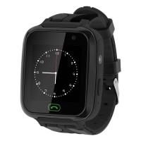 Ceas pentru copii Smartwatch Kruger&Matz, 400 mAh, ecran 1.44 inch, GPS, functia SOS, jocuri, lanterna, Negru