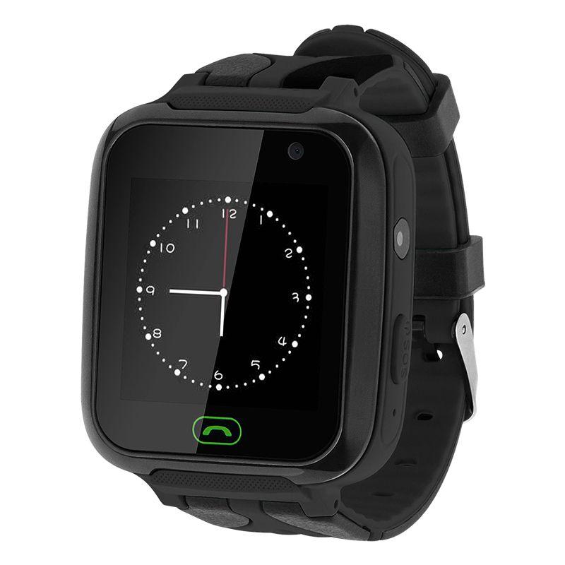 Ceas pentru copii Smartwatch Kruger&Matz, 400 mAh, ecran 1.44 inch, GPS, functia SOS, jocuri, lanterna, Negru 2021 shopu.ro