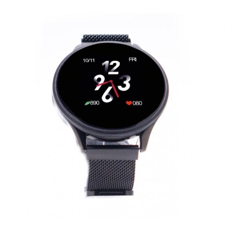 Smartwatch Smart Time 450 E-Boda, ecran tactil, 1.3 inch, Bluetooth 4.0, 150 mAh, Negru 2021 shopu.ro