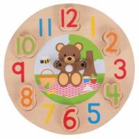 Ceas ursulet, dezvolta dexteritatea, aptitunidile de potrivire si concentrarea, 18 luni+