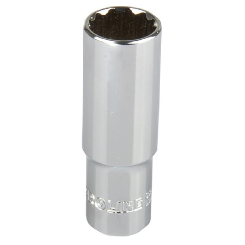 Cheie tubulara adanca dublu-hexagonala Proline, 1/2 inch, 21 mm, otel crom-vanadiu 2021 shopu.ro