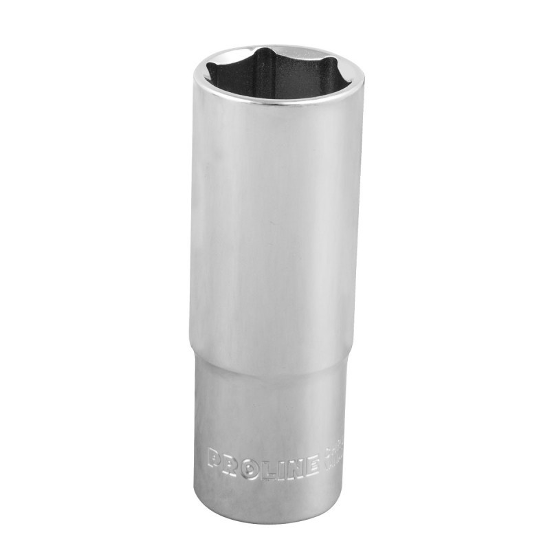 Cheie tubulara adanca hexagonala Proline, 1/2 inch, 18 mm, otel crom-vanadiu 2021 shopu.ro