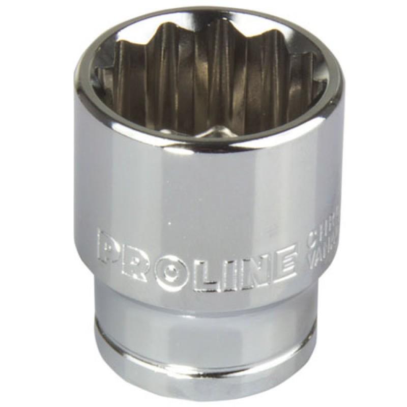 Cheie tubulara dublu-hexagonala Proline, 1/2 inch, 9 mm, otel crom-vanadiu 2021 shopu.ro