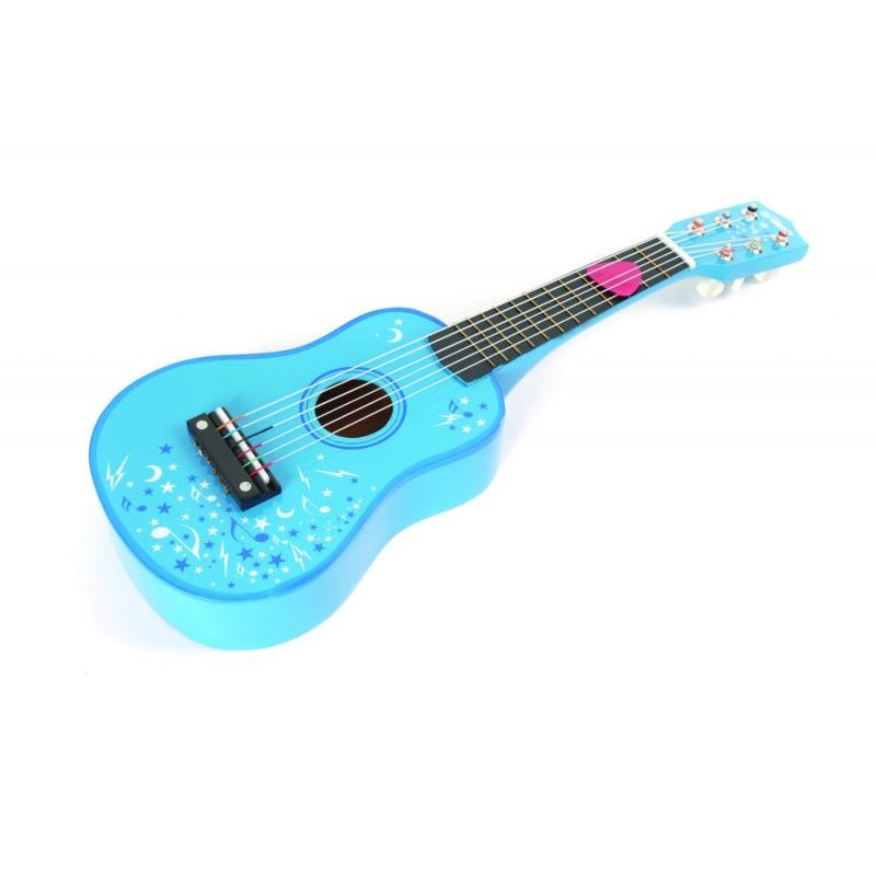 Chitara lemn pentru copii Tidlo, dezvolta coordonarea mana-ochi, urechea muzicala, simtul auditiv, 3 - 5 ani 2021 shopu.ro