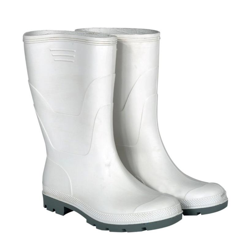 Cizme PVC captusite pentru protectie Kolmax, marimea 44, alb shopu.ro
