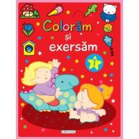 Carte de colorat Coloram si exersam 1 Girasol, 4 ani+