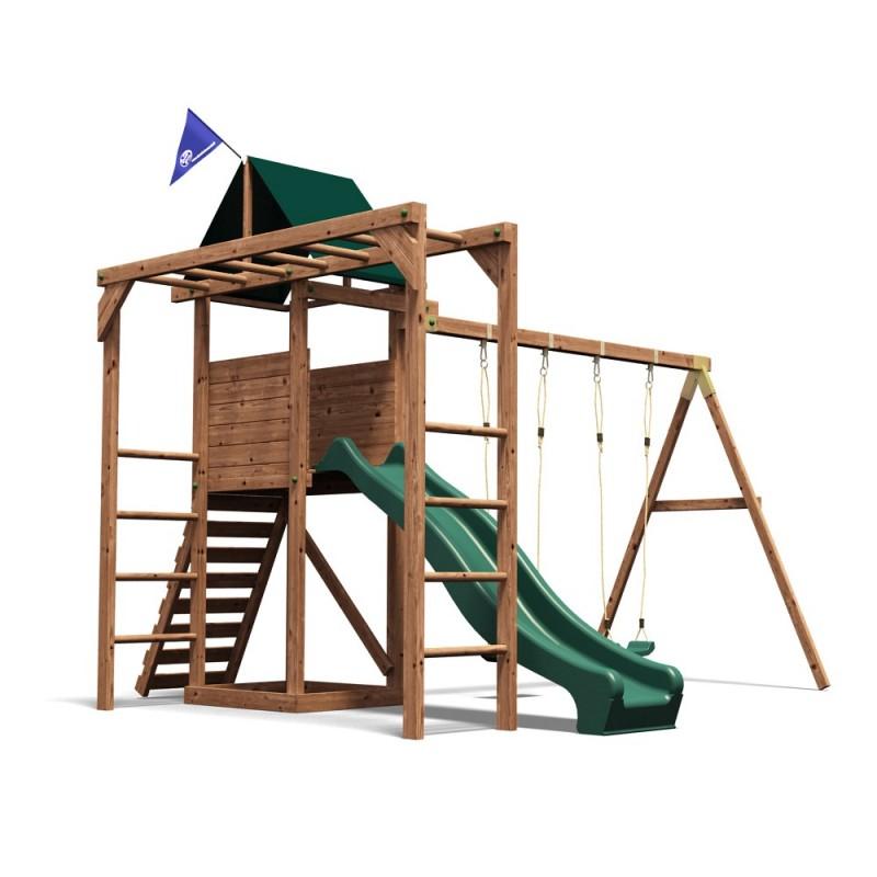 Loc de joaca MonkeyFort Dunster House, 380 x 340 x 285 cm, 3 ani+