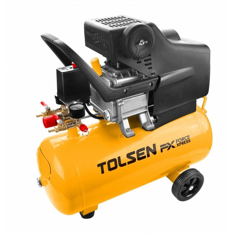 Compresor aer Tolsen, 1500 W, 24 L, presiune 8 bar, 2850 rpm