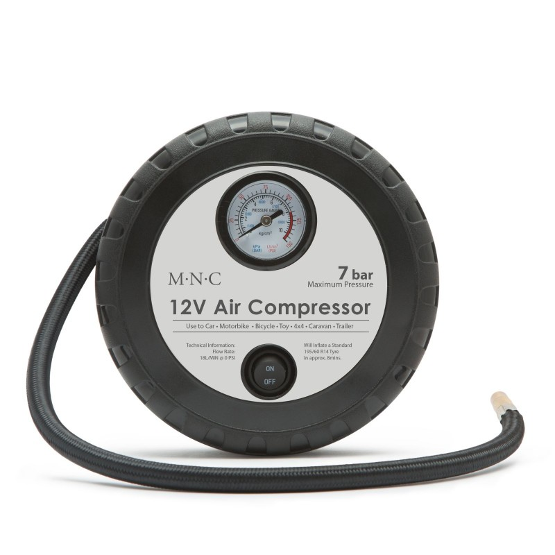 Compresor aer Deligt, 12V, 4/7 bar, 18 x 7 cm 2021 shopu.ro