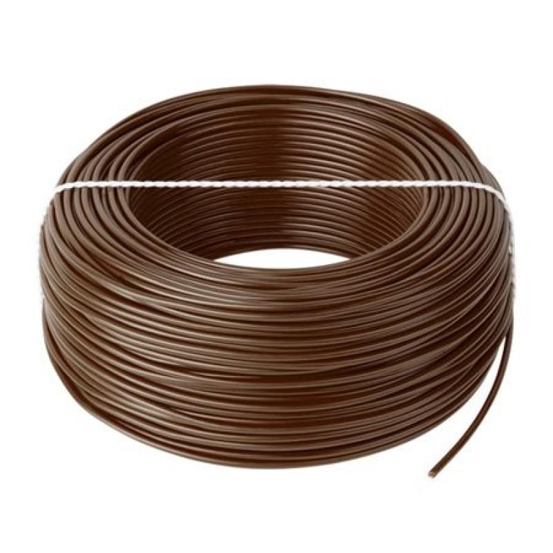 Cablu litat cupru tip LGY, 1 mm, 100 m, Maro 2021 shopu.ro