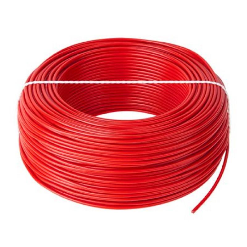 Cablu litat cupru tip LGY, 2.5 mm, 100 m, Rosu 2021 shopu.ro