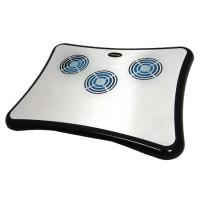 Cooling pad pentru laptop Breeze Esperanza, 4 x USB, 1500 rpm, Argintiu/Negru