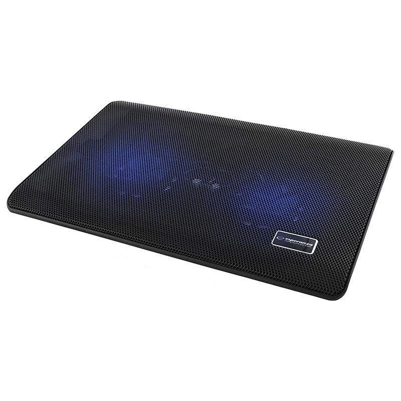 Cooler lapptop Tivani Esperanza, 2 x ventilator, 3000 rpm, 21 dB, Negru 2021 shopu.ro