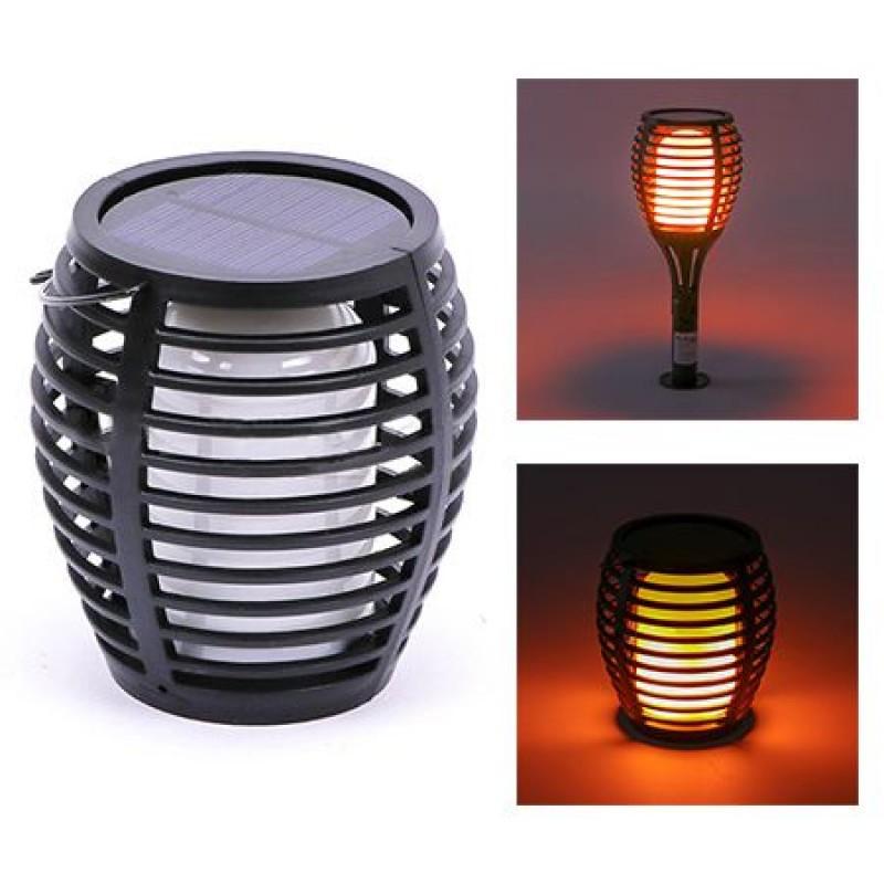 Lampa gradina, 3 in 1, efect flacara, incarcare solara shopu.ro