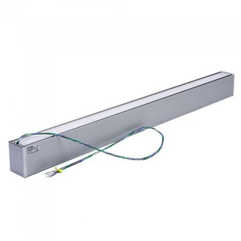 Plafoniera LED liniara, 60 W, 4000 K, iluminare dubla, lumina alb neutru, Gri