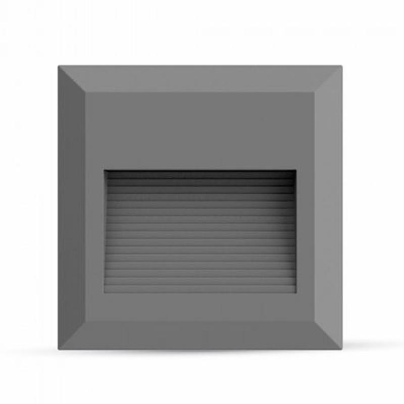 Aplica LED pentru scari, 2 W, temperatura culoare alb neutru, 60 lm, gri shopu.ro