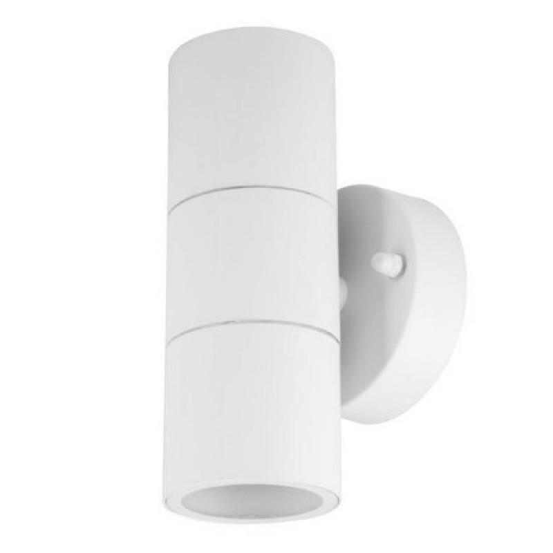 Corp iluminat V-Tac, 35 W, GU 10, IP44, 163 x 85 mm, inox, Alb shopu.ro