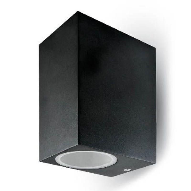 Aplica aluminiu, soclu 2 x GU10, negru 2021 shopu.ro