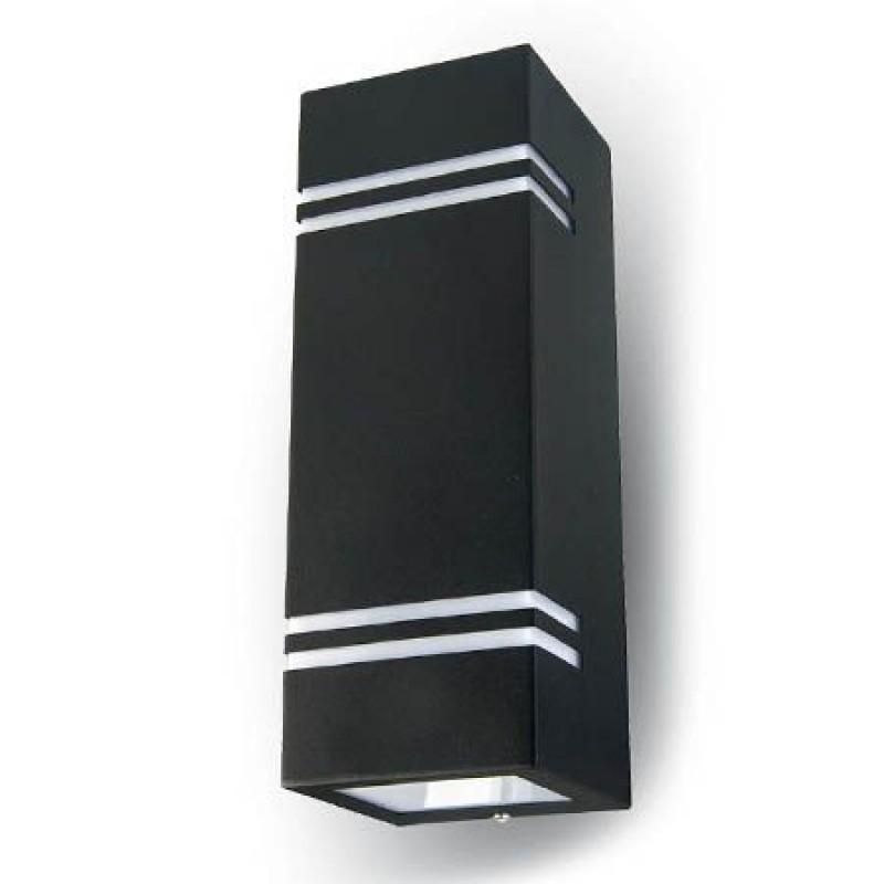 Corp iluminat, montaj pe perete, soclu 2 x GU10, negru