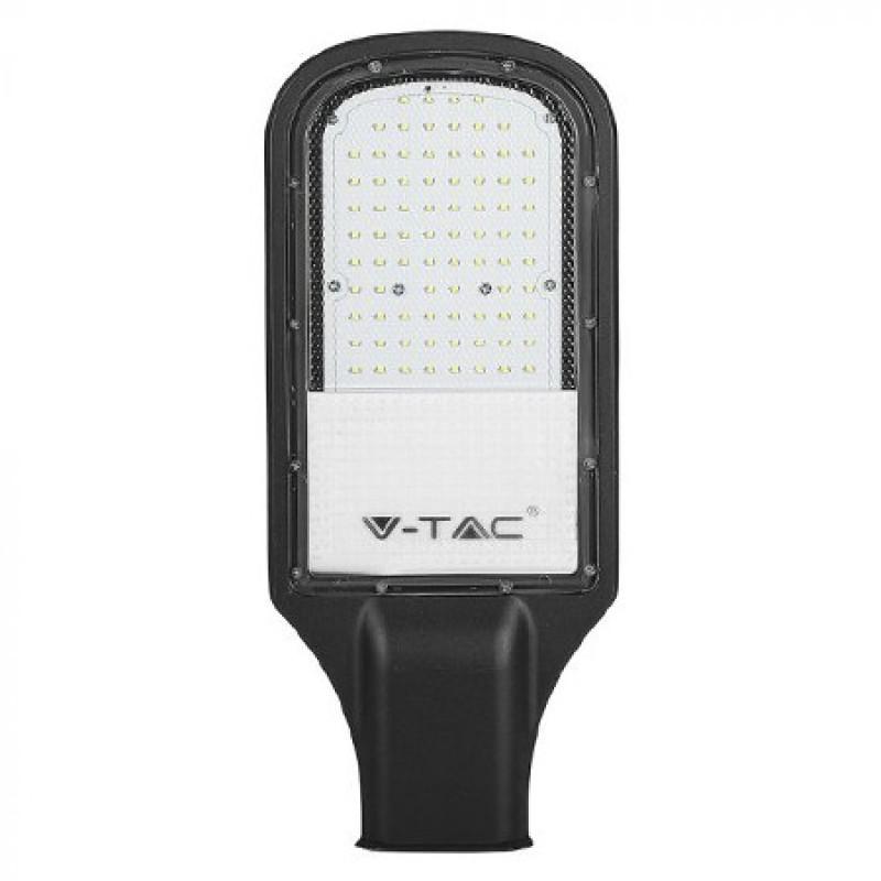 Corp iluminat Stradal V-Tac, 50 W, 6400 K, 5000 lumeni, 17 x 39 cm, cip samsung, IP65, Negru shopu.ro