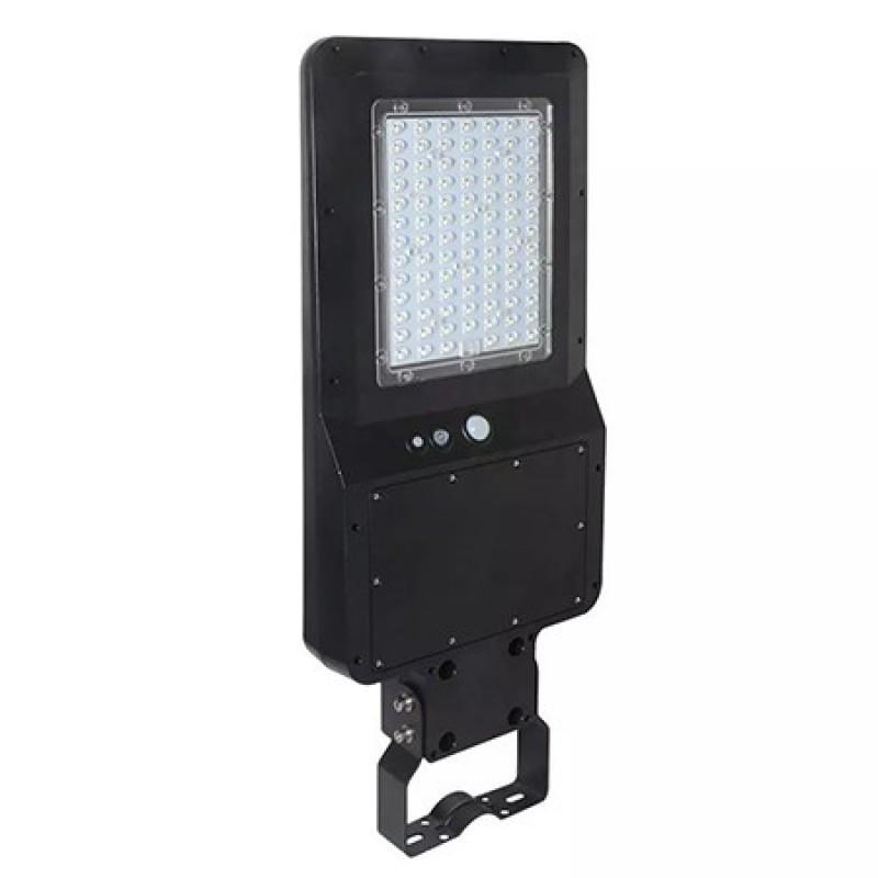 Corp iluminat Stradal V-Tac, 40 W, 6000 K, 4800 lumeni, IP65, baterie 12000 mAh, panou solar, aluminiu, Negru shopu.ro