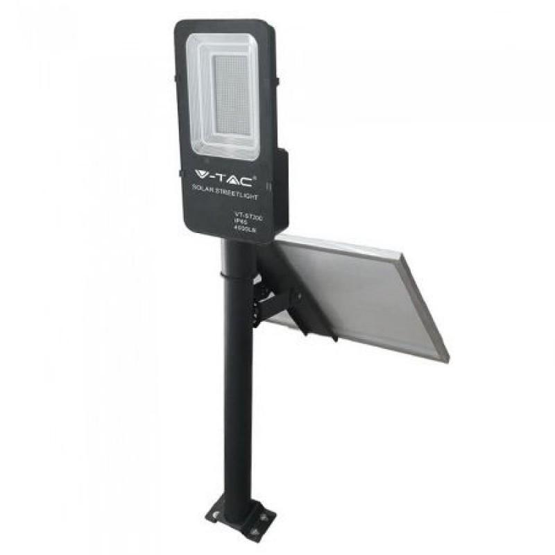Corp iluminat stradal V-Tac, LED, Panou Solar inclus, 50 W, 4000 K, Alb neutru shopu.ro