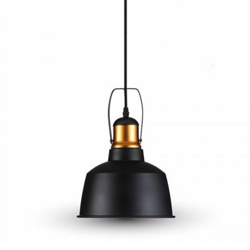 Lustra, 60 W, aluminiu, 1150 mm, negru shopu.ro