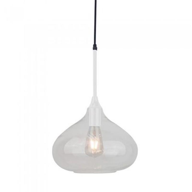 Corp suspendat pentru iluminat, 60 W, IP20, soclu E27, Alb/Argintiu shopu.ro