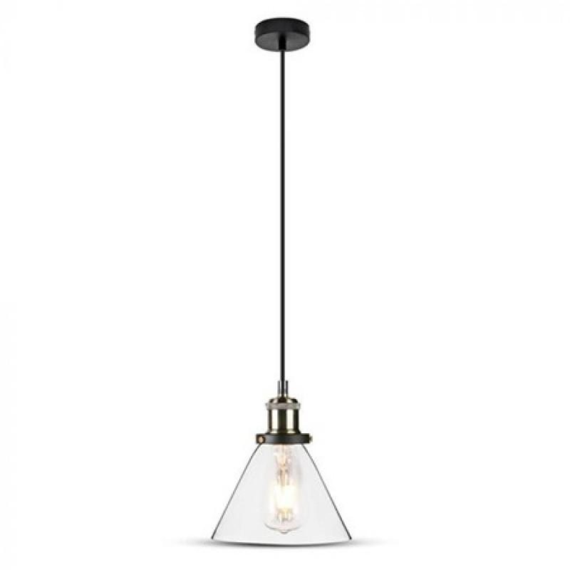 Corp suspendat pentru iluminat, 60 W, soclu E27, material sticla shopu.ro