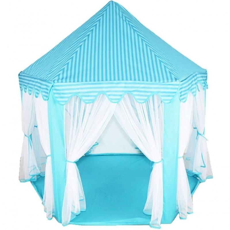 Cort pentru copii Iso Trade, 135 x 135 x 140 cm, pliabil, Albastru 2021 shopu.ro