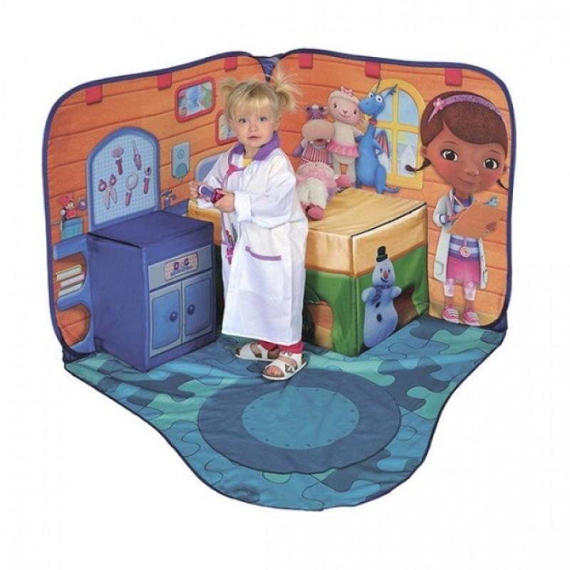 Spatiu de joaca Cabinet Doctorita Plusica, 118 x 118 cm, 18 luni+, Multicolor 2021 shopu.ro