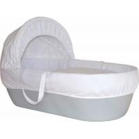 Cos bebelus Shnuggle, material reciclabil, manere din bumbac, Gri