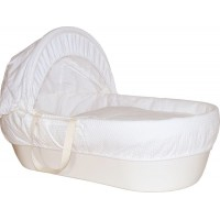 Cos bebelus Shnuggle, material reciclabil, manere din bumbac, Ivory