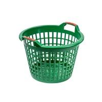 Cos pentru depozitare/transport Polonia, 35 l, 330 x 475 x 320 mm, plastic, Verde