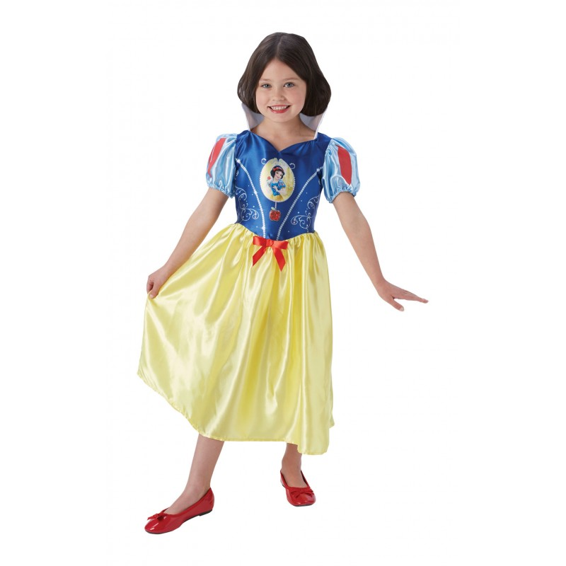 Costum pentru fetite Alba ca Zapada Fairytale, lungime 79 cm, 5-6 ani+ 2021 shopu.ro