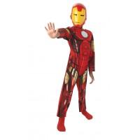 Costum pentru copii Clasic Iron Man, 7-8 ani,  marime L