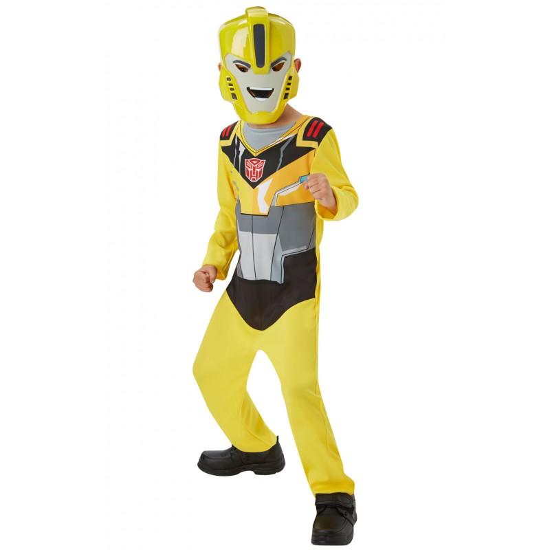 Costum cu masca Bumblebee Transformers, 3 ani+ 2021 shopu.ro